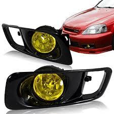 amazon com 1999 2000 honda civic 2 4dr fog lights kit yellow