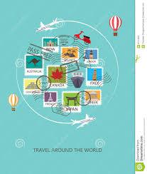 travel around the world background stock vector image 67573360