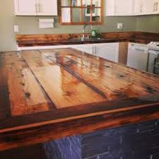 barn wood counter top customer shares pinterest wood counter