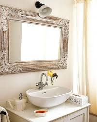 bathroom mirror with frame mirror and washing stand and tissue