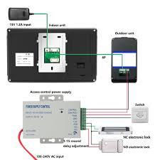 yobang security freeship 7inch wired wireless wifi ip video door