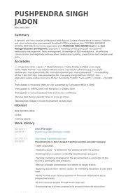 Sample Resume For Client Relationship Management by Asst Manager Resume Samples Visualcv Resume Samples Database