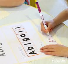 preschool lined writing paper name folders a portable hands on way to learn an error occurred