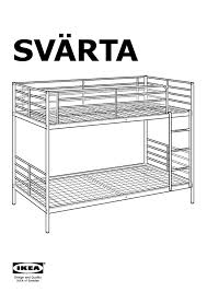 SVÄRTA Bunk Bed Frame Silver Color IKEA Canada English IKEAPEDIA - Ikea bunk bed assembly instructions