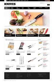 website template 46563 knives shop knife custom website template