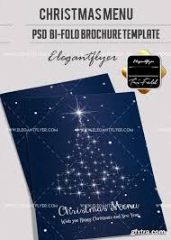 christmas menu v17 2017 bi fold psd brochure template vector