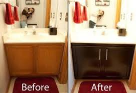 cabinets gel stain bathroom second sunco staining bathroom