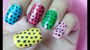 diy classy polka dots nail art only using pin youtube