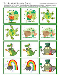 st patricks day match game kidscanhavefun blog