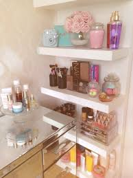 Ikea Vanity Table by My Room Girlie Makeup Ikea Lack Shelves Make Up Storage Ideas