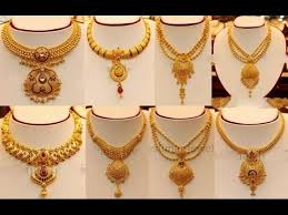 Simple Light Weight Gold Necklace Designs Youtube