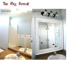 Bathroom Mirror Trim by How To Build A Wood Frame Around A Bathroom Mirror Bathroom