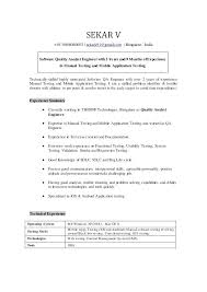 Business Analyst Mobile Application Resume Sample Resume For Quality Analyst Senior Application Developer A