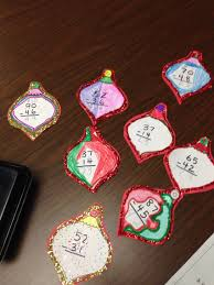 christmas math ornaments subtraction with regrouping anchor