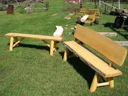 furniture inspirational outdoor garden bench made from log