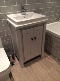 Bathroom Vanity Units Without Sink by Bespoke Vanity Unit In Farrow U0026 Ball Pavillion Grey With White