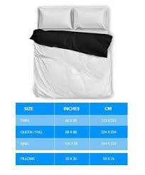 Duvet Size Chart Product Size Charts U2013 Crazy Shop