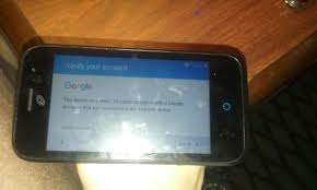 stock android i am stuck on verify your account google on a