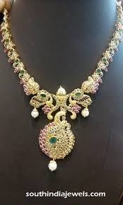light weight gold ruby necklace design necklace collections