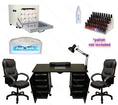 vented manicure nail table station dryer rack executive chair