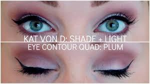 kat von d shade light eye contour quad beautiful shade light eye contour quad tutorial plum 2 youtube