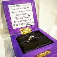 kingdom hearts paopu fruit inspired engagement ring box w quote