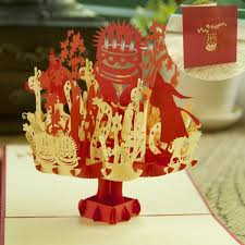 cake candle magic fairy greeting card 3d handmade pop up piano