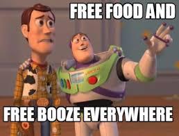 Toy Story Everywhere Meme - meme maker free food and free booze everywhere