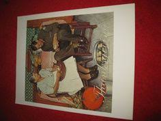 vintage norman rockwell war news 10 x 13 book plate print