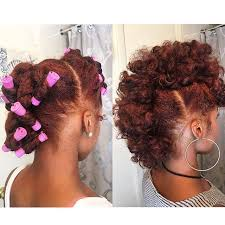 natural pin up hairstyles for black women frohawk pin up 3 separate sections front middle back 3 4 twist