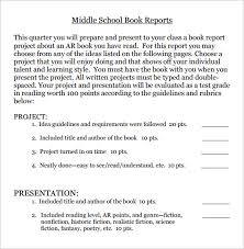 middle school book report template 6 middle school book report templates free pdf documents
