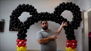 Balloon Arch Decoration Kit Mickey Mouse Balloon Arch Tutorial No Helium Required Diy How To