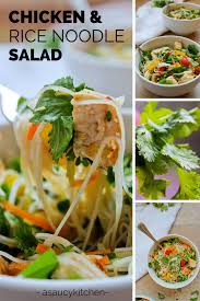 Noodle Salad Recipes Chicken And Rice Noodle Salad A Saucy Kitchen