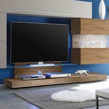 Wohnzimmerschrank Ohne Tv Tv Wohnwand Frisata In Beige Eiche Pharao24 De