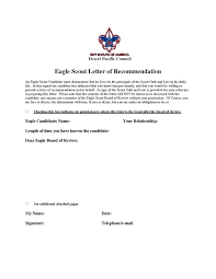 recommendation for fatherhoodeagle scout letter of recommendation