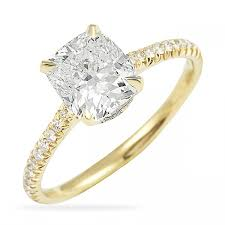 yellow gold engagement ring 170 ct cushion cut yellow gold engagement ring gold engagement