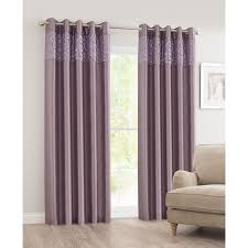 Mauve Curtains Next B U0026m Luxor Sequin Top Border Thermal Eyelet Curtain 66 X 90
