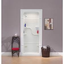 Mirolin Shower Door Mirolin 38 In W X 34 25 In L X 84 5 In H White Acrylic