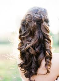 long layered curly hairstyles back view