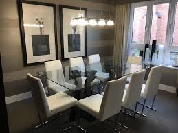 show home dining room glass table u0026 8 chairs in fleet hampshire