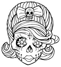 skull coloring pages sugar skull coloring pages free skull