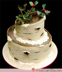The present and birch tree cake are both by the Pink Cake Box Sammiah s blog   blogger