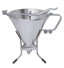 piston cuisine de buyer 3354 02 kwik entonnoir à piston inox avec support 1