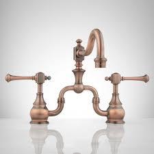 bridge faucet oil rubbed bronze vintage style bathroom sinks