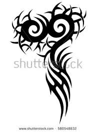tribal tattoo art designs sketched simple stock vector 580548832
