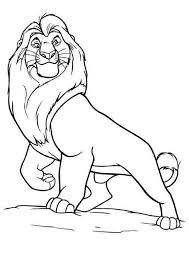 lion king coloring pages mufasa coloring