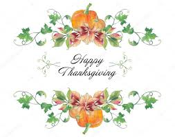 happy thanksgiving day watercolor pattern stock photo