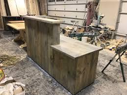 Rustic Reception Desk Rustic Reception Desk Done In A Grey Wash Frazer Construction