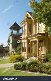 historic victorian homes heritage park old stock photo 18453052