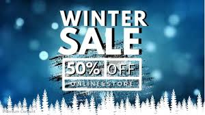 winter sale facebook cover video template postermywall